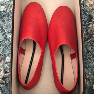 Barney's Red Leather Loafers